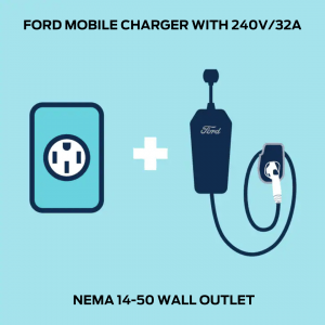 FORD MOBILE CHARGER WITH 240V2F32A NEMA 14 50 WALL OUTLET